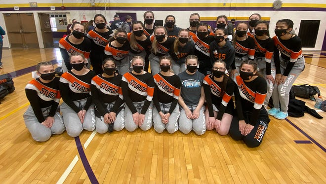 The Sturgis competitive cheer team took first place on Saturday afternoon.