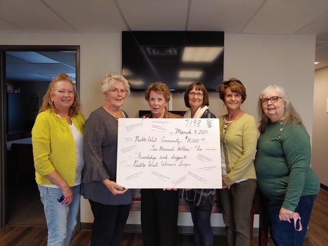 Pueblo West Women's League members from left to right: Becky Goehring, Jeanne Benson, Barb Murfit, Doris Morgan, Dotsy Baxter, Arlene Schimel