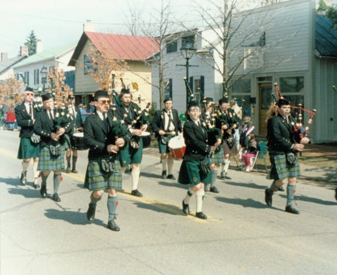 The Capital City Pipes and Drums, shown performing in a St. Patrick's Day parade in Dublin, are a frequent sight at many central Ohio events. Founded in 1963 by Bobby Peters, a Scottish immigrant, the group also has performed at the Dublin Irish Festival and in competitions around the world.