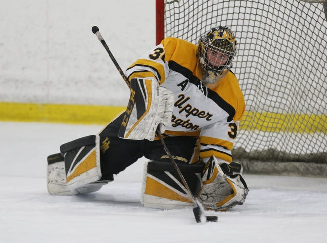 Senior goalie Garrett Alderman helped lead Upper Arlington to its first state tournament berth in 14 years. The Golden Bears finished 22-10-0-3, going 13-2-1 in their final 16 games.