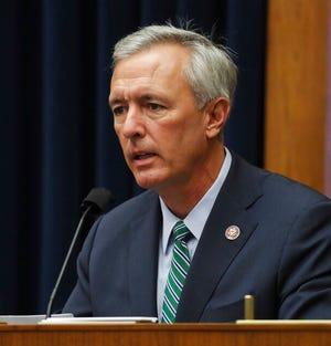 Rep. John Katko, RN.Y., mempertanyakan saksi dalam sidang House Committee on Homeland Security tentang'ancaman dunia terhadap tanah air', Kamis, 17 September 2020 di Capitol Hill Washington.