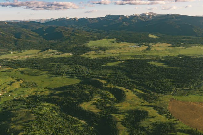 Aerial view of northern Lewis and Clark County, where the Lincoln area public lands proposal could potentially take effect.