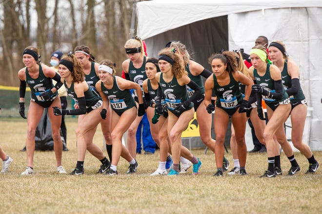 The Michigan State women's cross country team finished in fourth place in the 2021 NCAA Championships on March 15, 2021.