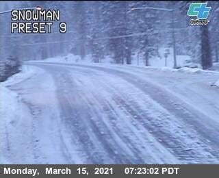 Chains are required on HIghway 89 from McCloud to the junction of I-5 in Siskiyou County.