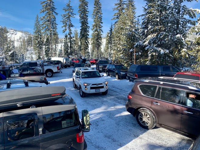 A crush of cars at Santiam Sno-Park created a very tight parking situation at Santiam Sno-Park during the winter of 2020 and 2021.
