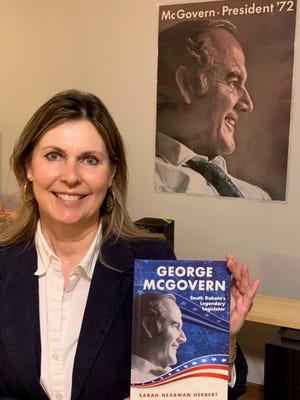 "Sarah Nearman Herbert hopes her book ""George McGovern: South Dakota's Legendary Legislator"" will help fourth grade students remember the late Senator's memory and accomplishments."