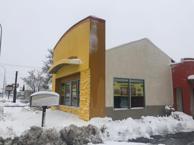 The former Taco Johns at 1609 E. 10th St. is being renovated into Kabab King, a Mediterranean restaurant and market.