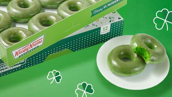 Krispy Kreme has special doughnuts for St. Patrick's Day.