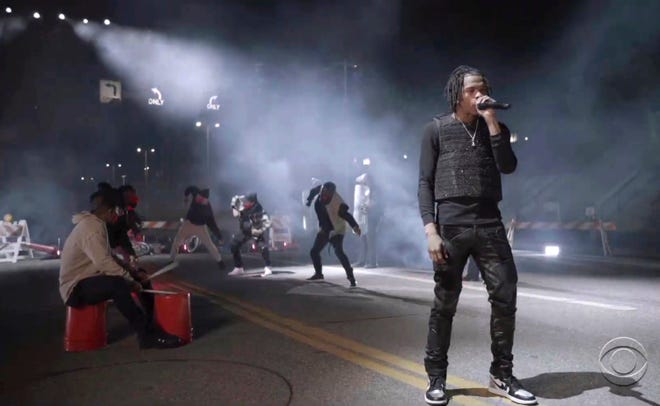 "Lil Baby performs ""The Bigger Picture""."