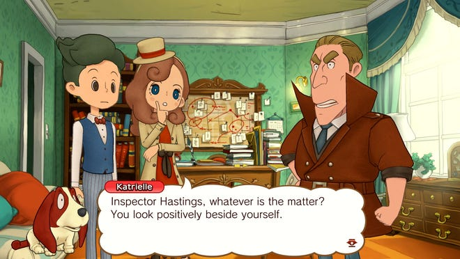 A scene from 'Layton's Mystery Journey: Katrielle and the Millionaires' Conspiracy' for Nintendo Switch