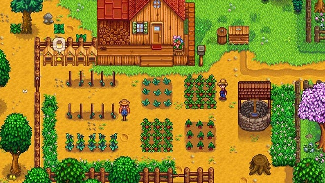 A scene from 'Stardew Valley' video game