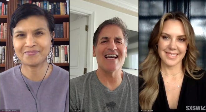 Texas tycoons Kendra Scott and Mark Cuban said they see Texas as a special place to do business and to get companies off the ground. The pair spoke to Stephanie Mehta, editor-in-chief of Fast Company, during a South by Southwest panel on Tuesday.