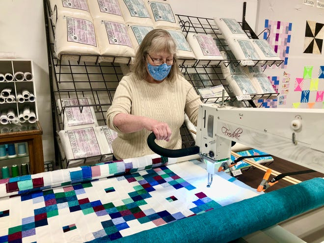 Cathy Byrd recently opened High Bridge Quilting at 719 Story St. in Boone, Iowa. It specializes in longarm quilting, custom quilt, pillow and pillowcase orders and offers fabric and supplies.