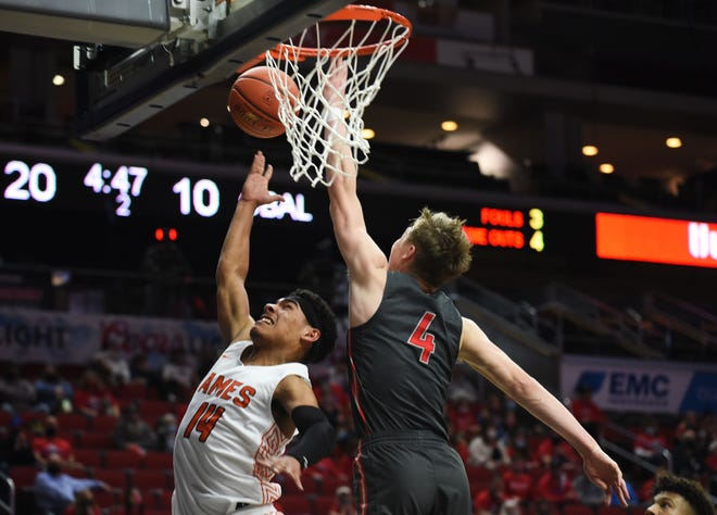 Ames junior Tamin Lipsey was named first-team all-state in Class 4A for boys' basketball by the IPSWA in 2020-2021.