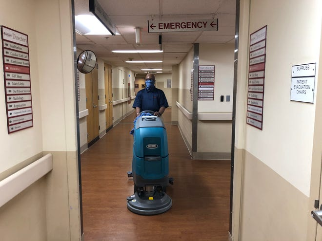 Isaac Irby of Middletown has worked at Lower Bucks Hospital for more than 21 years, and now serves as a floor technician, cleaning and polishing the hospital's floors.