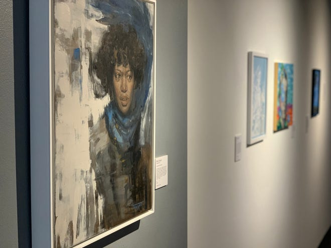 """A painting by Melodie Thompson on display in """"Lasting Legacies"""" at Blockfort"""