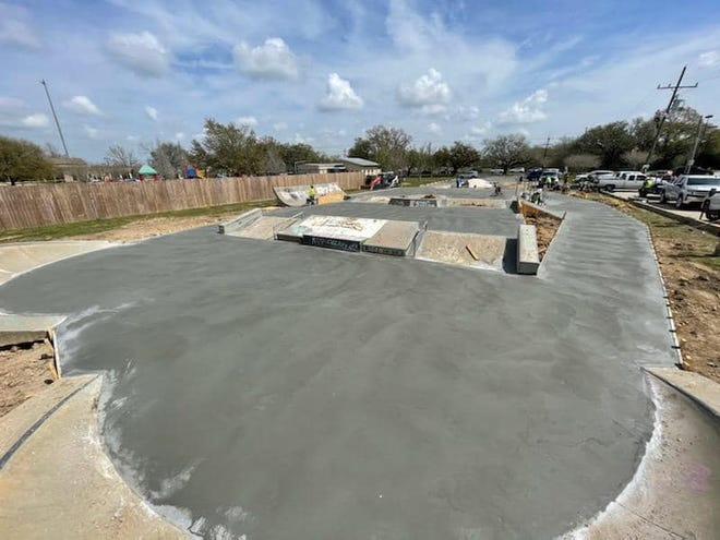 Concrete has been poured at the skatepark in Prairieville.