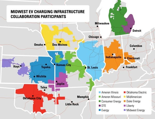 Midwest EV charging infrastructure collaboration.