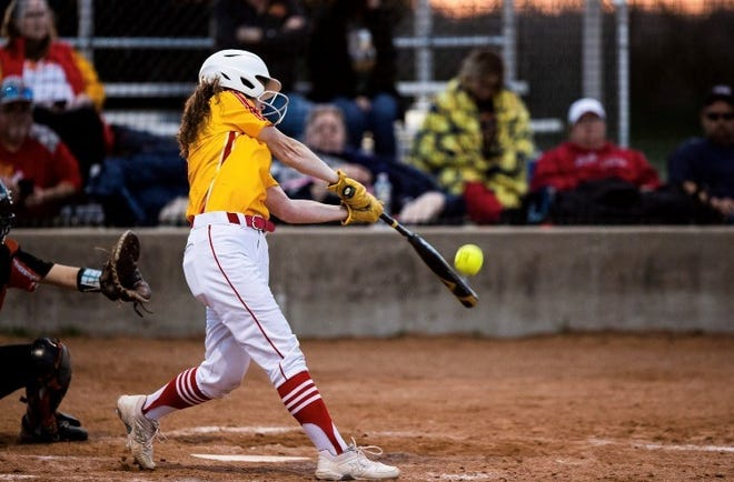 S&S' Ashlynn Fowler was 3-for-4 with a triple and scored three runs during the Lady Rams' loss against Pilot Point in district play.