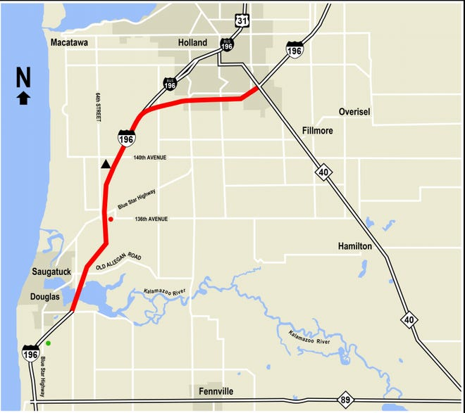 The Michigan Department of Transportation is rebuilding I-196 between Saugatuck and Holland this spring and summer.