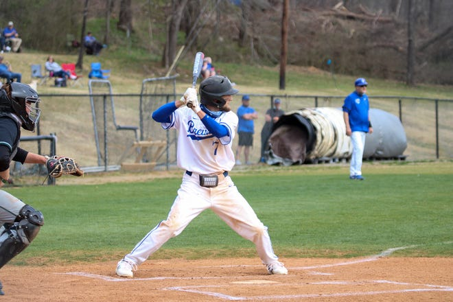 Brevard College's Zach Allison bats during a game earlier this season at Brevard.