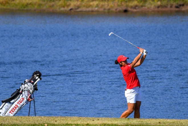 Sofia Garcia, pictured here in an earlier tournament, led Texas Tech to the championship of the BYU Spring Classic that concluded Tuesday in Hurricane, Utah. Garcia tied for third at even par.