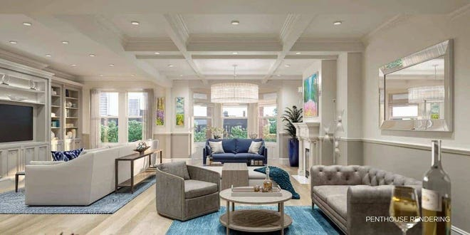 The Penthouse is one of the five new luxurious homes being offered at The Garland at 341 Commonwealth Ave.