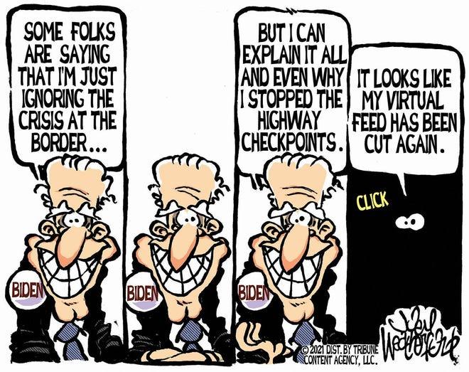 Today's editorial cartoon (March 17, 2021)