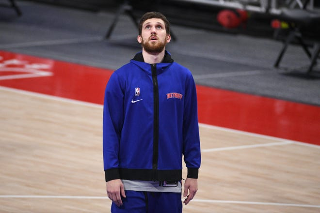 Svi Mykhailiuk was traded from the Pistons to the Thunder on Saturday.