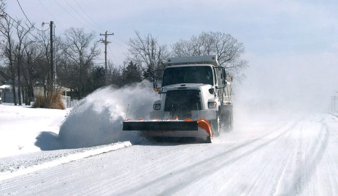 Power utilities in Oklahoma and the surrounding region are still dealing with results of the cold snap and heavy snowfall that this truck from the City of Edmond plowed during February's winter storm.