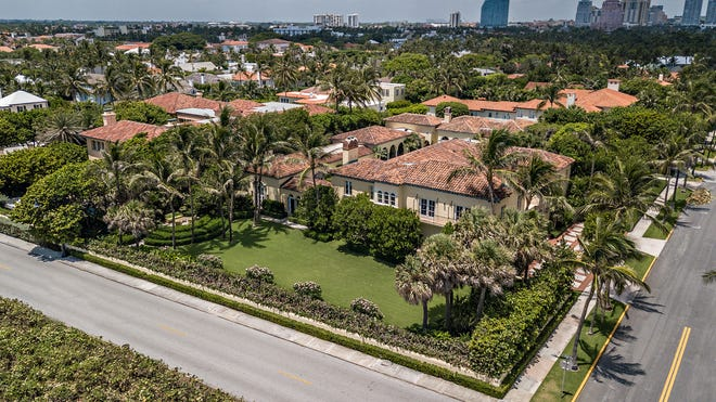 On the corner of Clarke Avenue, a restored landmarked house facing the ocean at 172 S. Ocean Blvd. in Palm Beach has sold for a recorded $45.6 million to a Delaware-registered limited liability company.