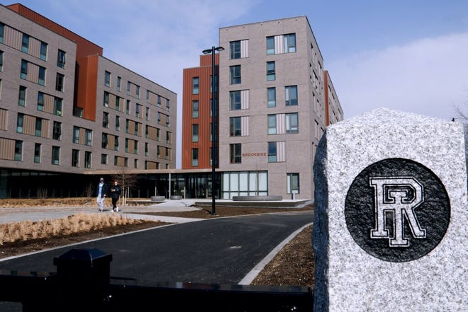 The Brookside Hall residence at URI is the newest student housing building. The university has warned students to stay vigilant after a recent uptick in off-campus parties was reported.