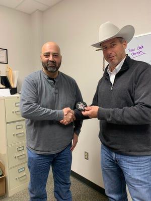 The Erath County Sheriff's Office recently welcomed a new deputy. Sheriff Matt Coates swore in new deputy Hany Mahmoud.