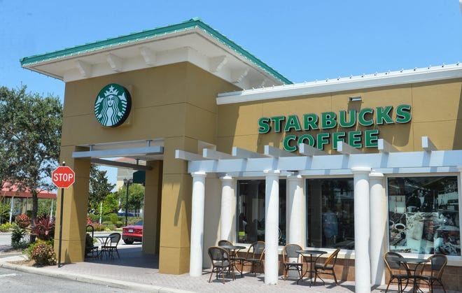 The Starbucks on Main Street in Lakewood Ranch. The neighborhood is getting a new Starbucks at University Parkway and Lorraine Road.
