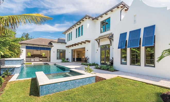 London Bay Homes has sold the Somerset model, a 5,000-square-foot waterfront home, in Spice Bay.