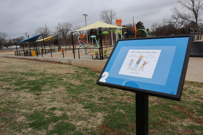 The library has debuted a Story Walk along the walking trail in the park, where visitors can experience a book while on their walk.