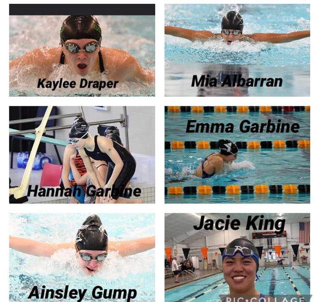 Seven members of the Sturgis Stingrays will take part in the 2021 All-Star Zone swimming championships this weekend. Not pictured is Bre Hagerty, who also qualified.