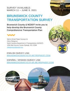 Brunswick County Comprehensive Transportation Survey now open through June 9