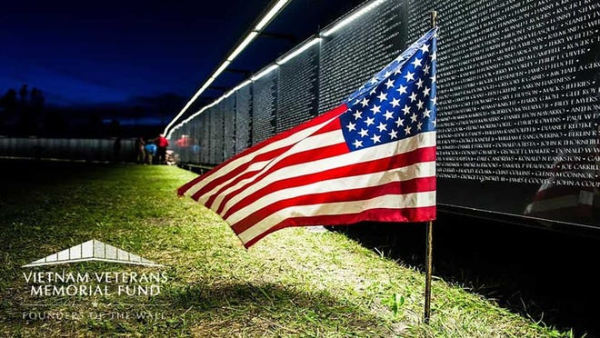 The touring Vietnam  Memorial Wall replica - The Wall that Heals - comes to New Bern in April.