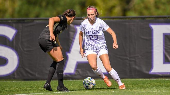 Holy Cross women's soccer sophomore Katie Quinn netted the winner against Lafayette last Saturday.