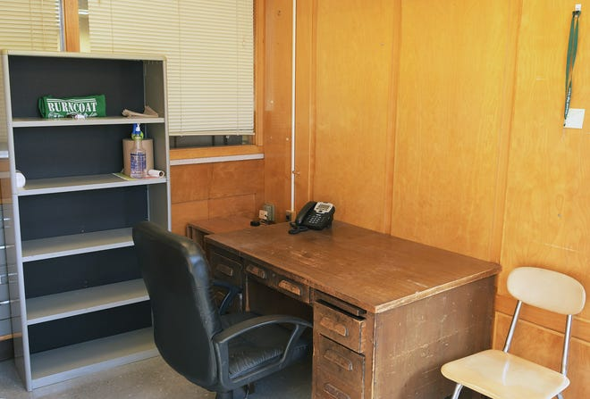 The office used by the school resource officer at Burncoat High School is now empty.