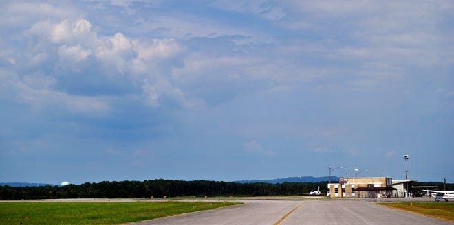 The primary runway at the Northeast Alabama Regional Airport is pictured in a file photo.