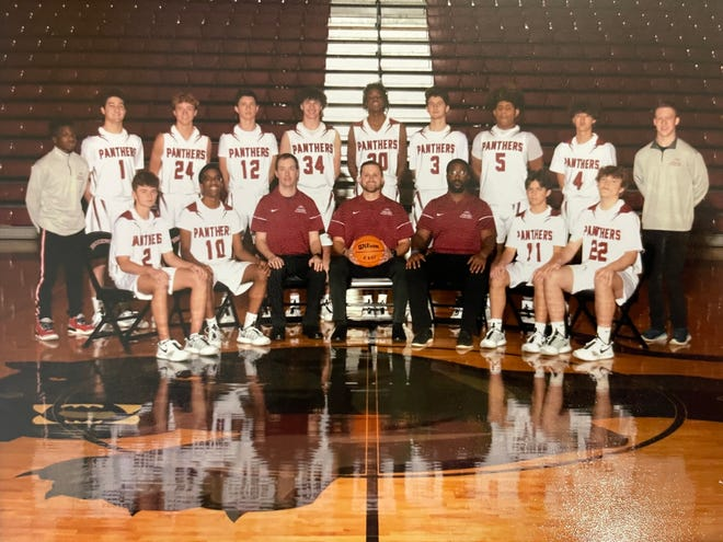 Brookwood senior Brylan Miller, shown in the back row on the far right, has been named Bryant-Jordan Regional Student-Achievement award winner for AHSAA Class 6A, Region 4. Miller has not let cerebral palsy keep him from being a part of the Panthers' team.