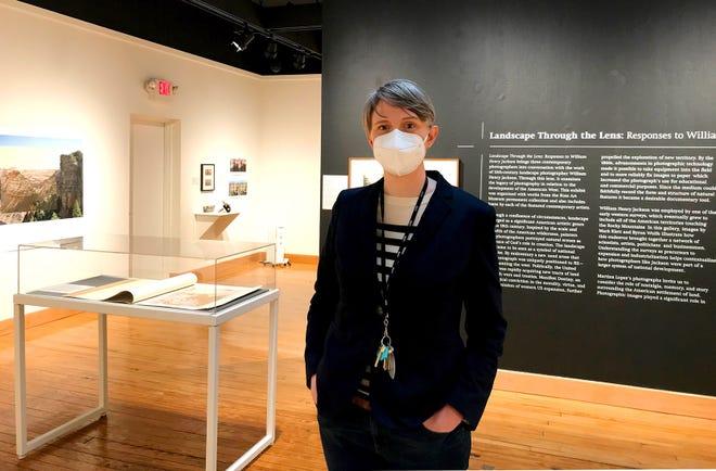 Erin Fletcher, Ohio Wesleyan University's Richard M. Ross Art Museum director, stands in an exhibit area of the museum at 60 S. Sandusky St. in Delaware.