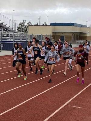 Silverado's Zoe Smith, front left, took first place at the second Desert Sky League cluster meet of the season Monday at Silverado.