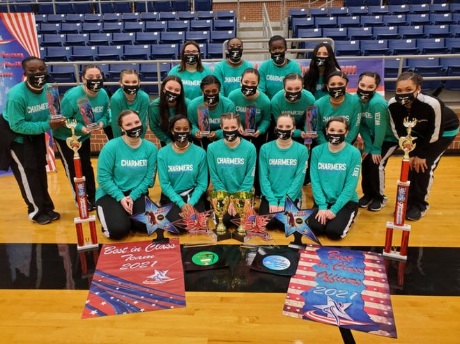 The Waxahachie High School Cherokee Charmers brought home numerous awards from their final dance competition of the year in Mansfield last Saturday.