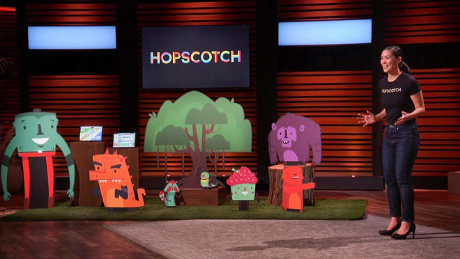 Samantha John appears on Shark Tank presenting her fun educational app designed to help kids learn to code.