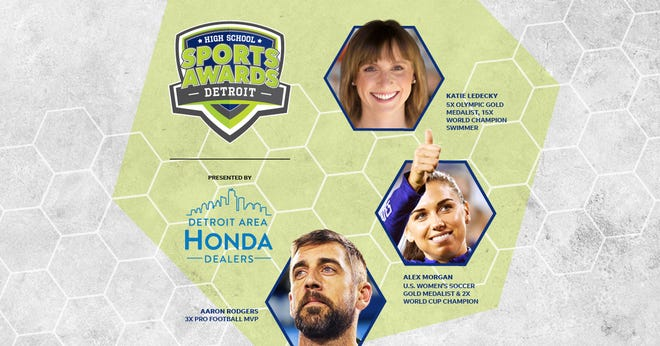 Three-time NFL MVP Aaron Rodgers, two-time FIFA World Cup Champion Alex Morgan and five-time Olympic gold medalist Katie Ledecky will be among a highly decorated group of presenters and guests in the DetroitHigh School Sports Awards premiering this summer on USA TODAY streaming platforms and channels.