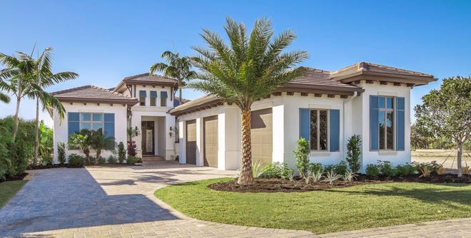The majority of the villas Gulfshore Homes offered in WestLake Court featured a combination lake, golf course and nature preserve views.