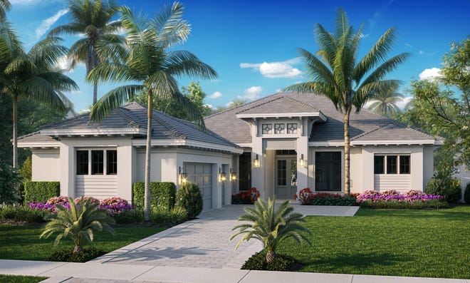 Imperial Homes of Naples' Azura floor plan is one of three quick delivery homes currently under construction in Peninsula Treviso Bay.